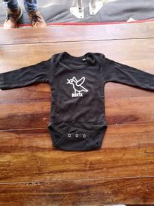 Bilde av Babybody: sort - Måse